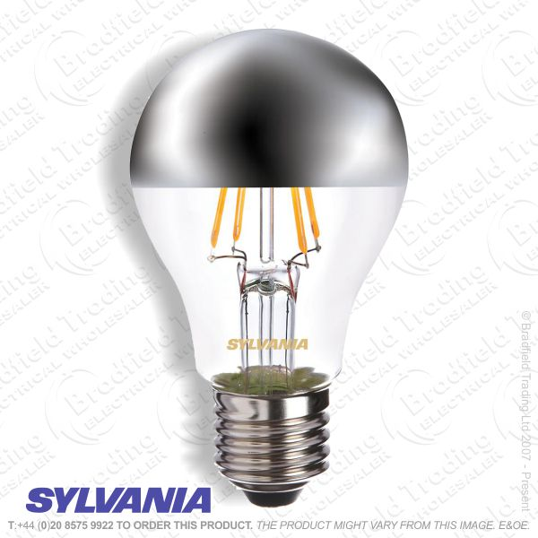 A23) GLS LED ES 4w 27k Crown Silver Fillament