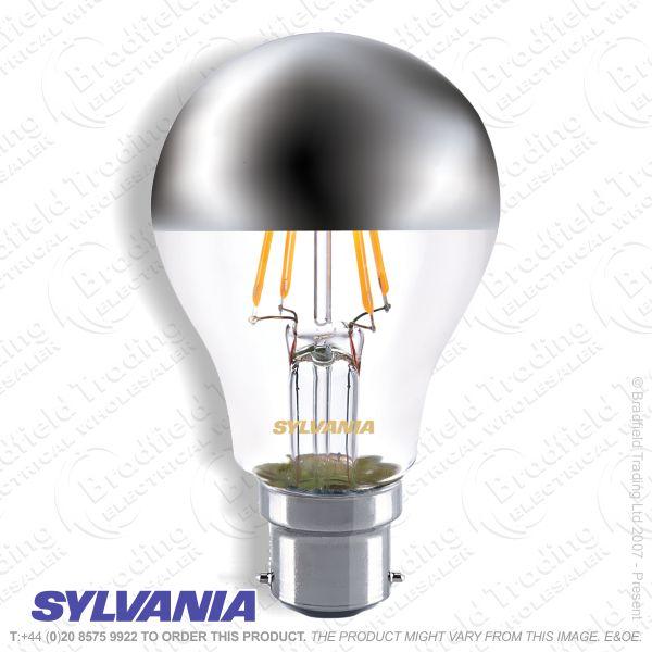 A23) GLS LED BC 4w 27k Crown Silver Fillament