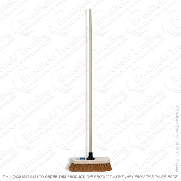 Wooden Broom Coco Soft 300mm DRAPER
