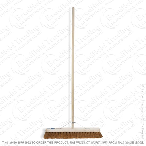 Wooden Broom Bassine Hard 600mm DRAPER