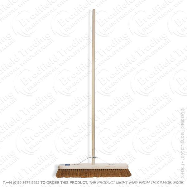Wooden Broom Bassine Hard 600mm DRAPER