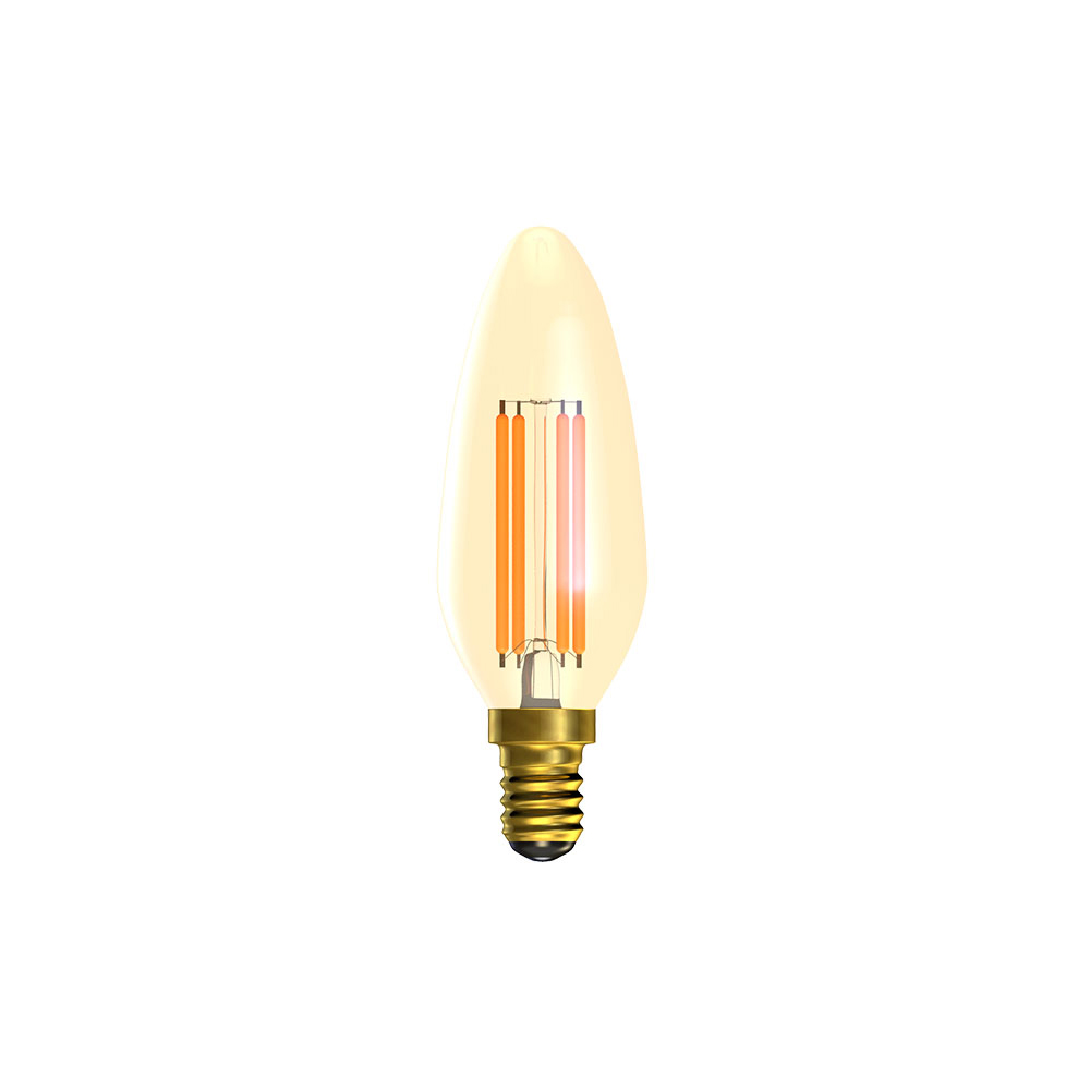 A26) LED Vintage Candle Dimmable Amber SES 4W