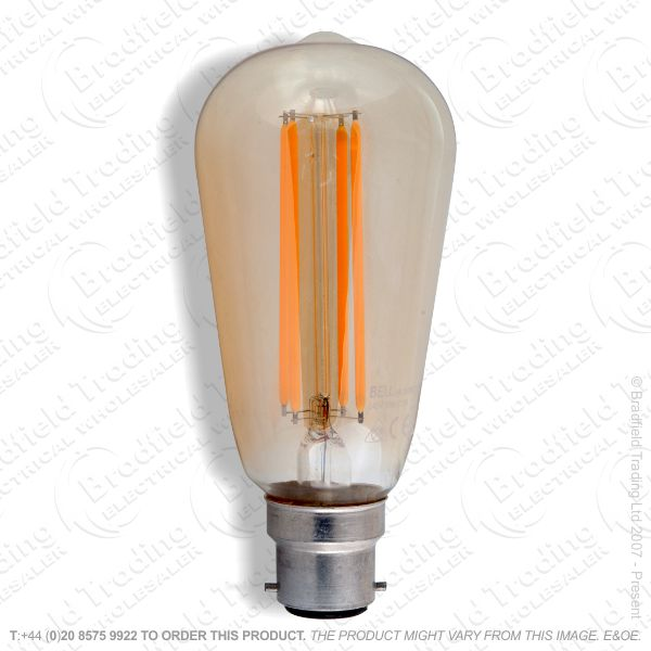 A24) LED  Vintage Squirell Cage Amber BC 4W
