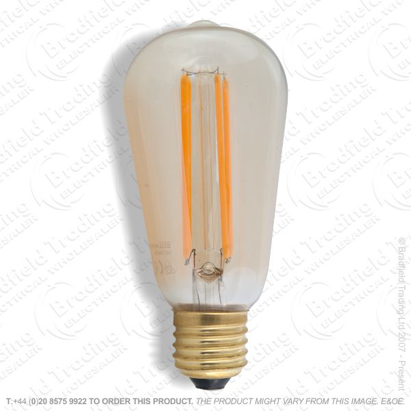 A24) LED  Vintage Squirell Cage Amber ES 4W