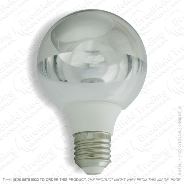 A34) LED GLS 5W ES Crown Silver WarmWhite