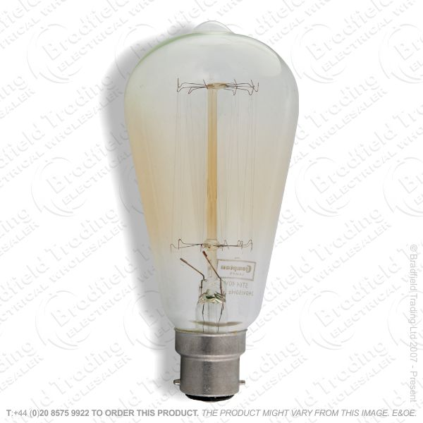 A03) Squirrel Cage BC 60W Clear Filament BELL
