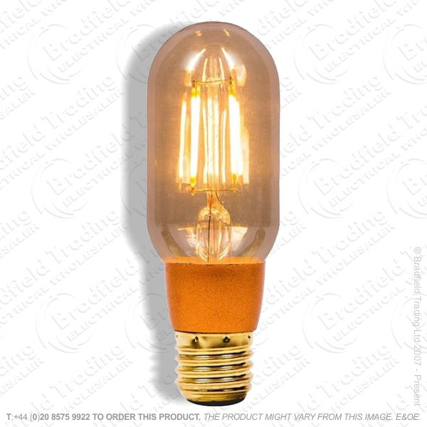 A25) LED Vintage Tubular Dimmable Amber ES 4W
