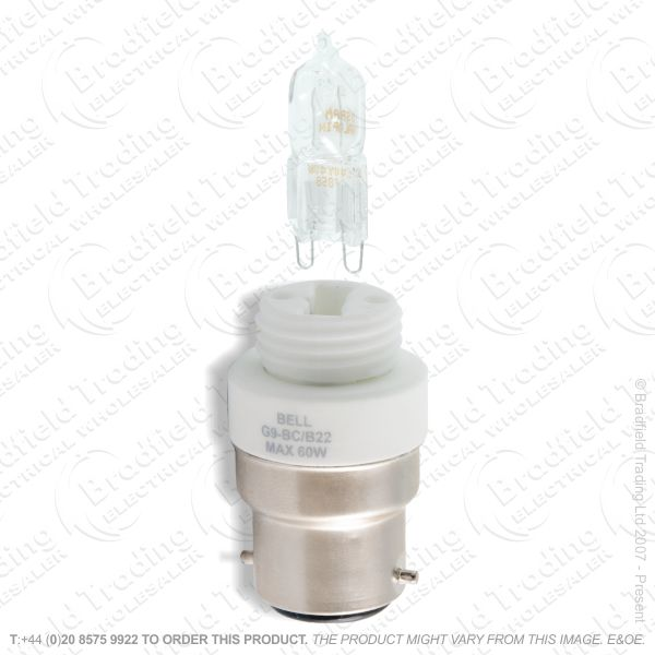 A57) Lamp Adaptor G9 BC inc 28W BEL