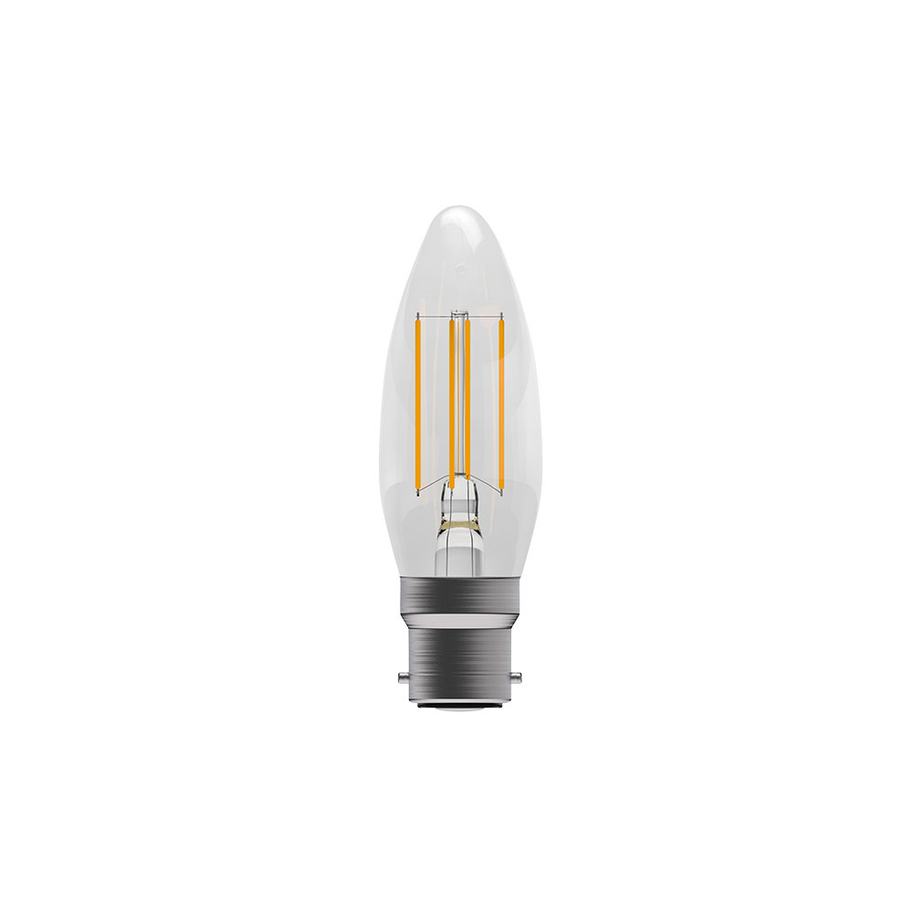 4W LED Filla Clear Candle BC 27k Dimm BELL