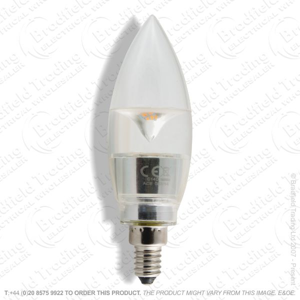 A28) 3W LED Candle E14 SES 150lm (15W) BELL
