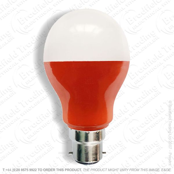 A23) LED GLS 5W BC Amber Coloured BELL