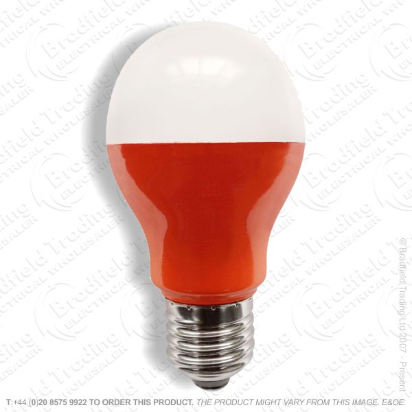 A23) LED GLS 5W ES Amber Coloured BELL