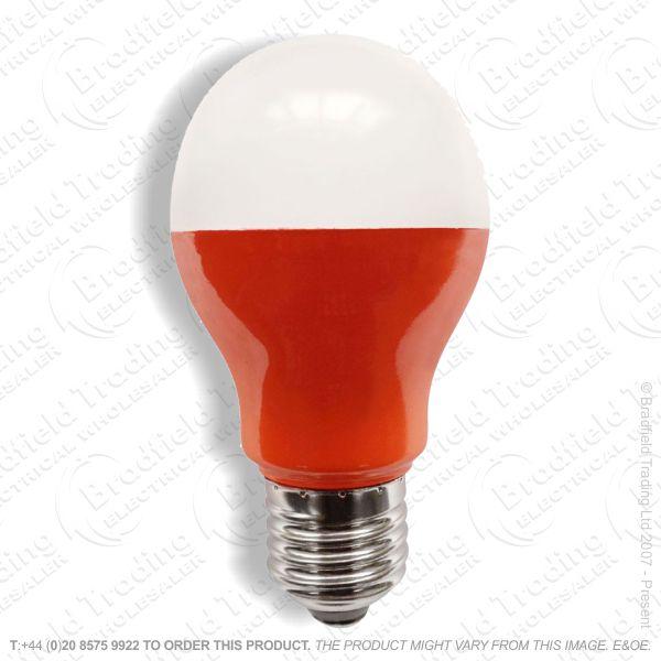 A23) LED GLS 5W ES Amber Coloured BELL