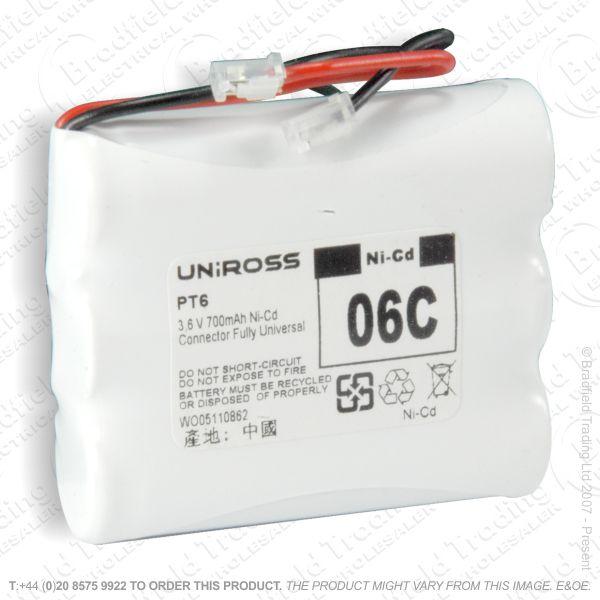 E13) BatteryPhone 3.6V 600mAH 3xAA UNI