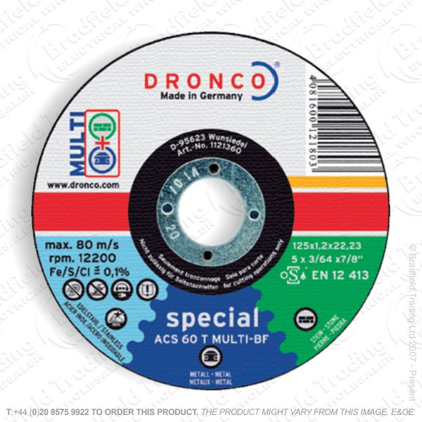 G31) Metal Cutting Disc 115x1.0mm Inox