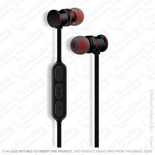 Earphones Wireless Bluetooth Black