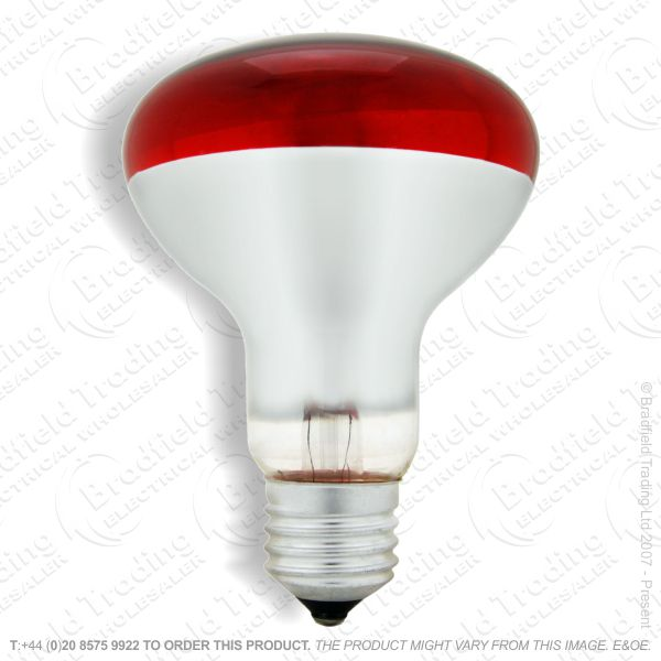A09) Reflector R80 col ES red 100W CRO
