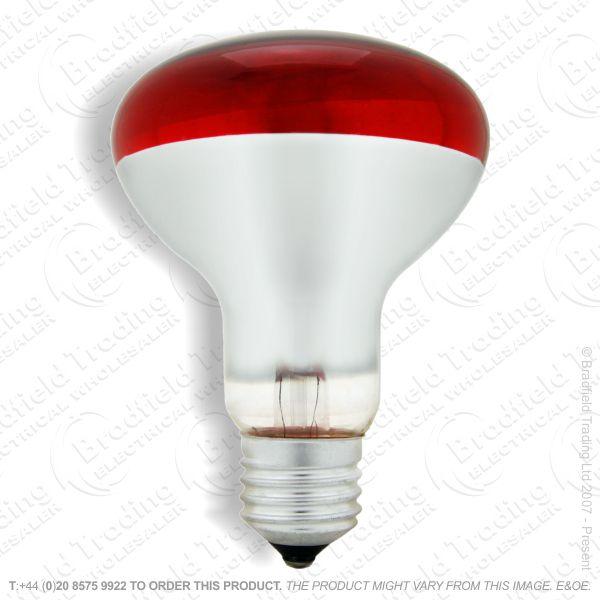 A09) Reflector R80 col ES red 100W CRO