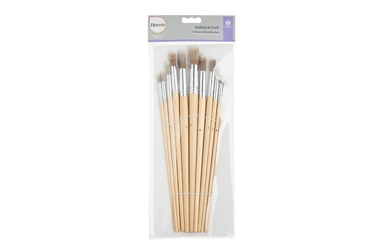 Artist Round Paint Brush Set x11 HARRIS