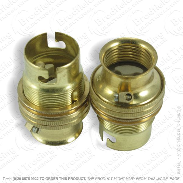 B02) Lamp Holder BC 20mm entry brass LIL
