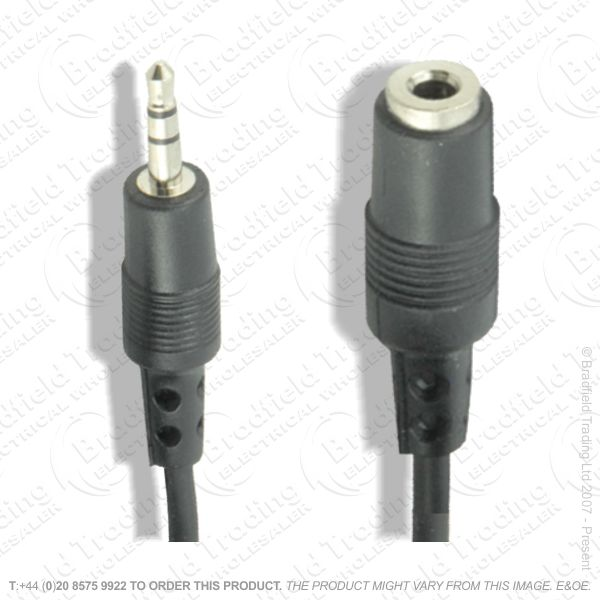 E26) Audio Lead 3.5mm M-F Extension 5m