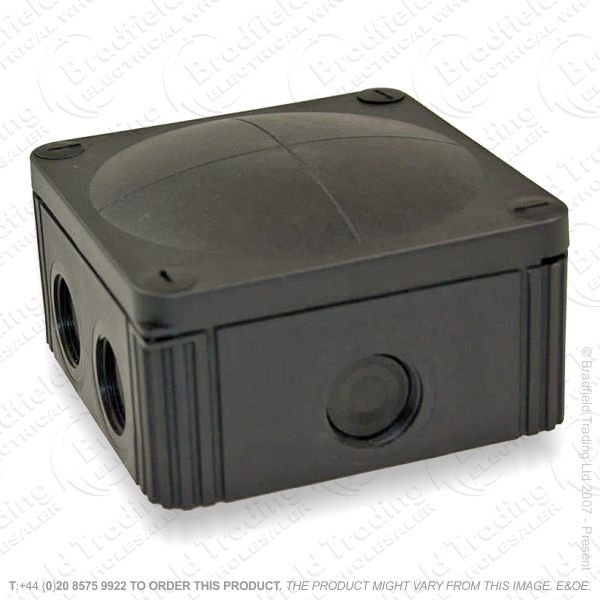 20A Wiska Junction Box 76x76x51Black