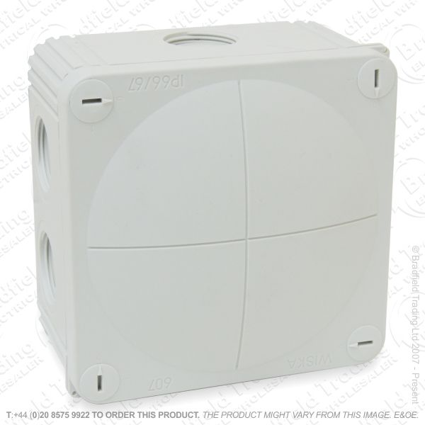 H24) 20A Wiska Junction Box 76x76x51 Gr