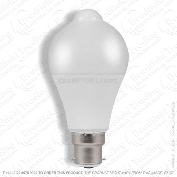 A23) 10W LED GLS BC 3k PIR Sensor CROMPTON