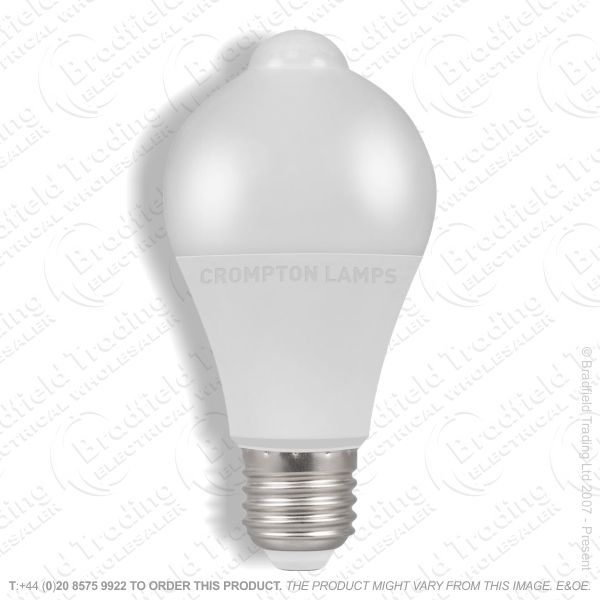 A23) 10W LED GLS ES 3k PIR Sensor CROMPTON