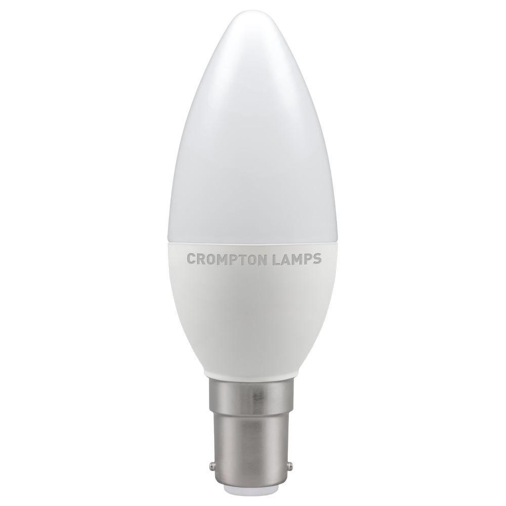 5.5W LED Candle SBC 27k 240V CROMPTON