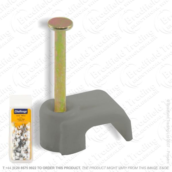 H02) Cable Clips Flat 2.5mm T E (24) BP
