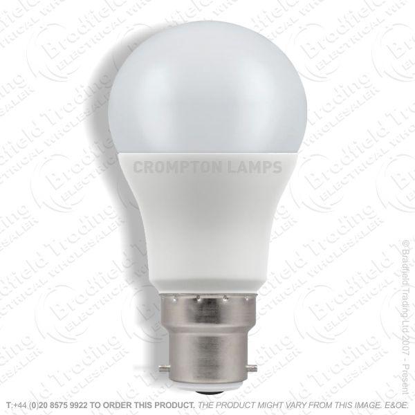 A20) 5.5W LED GLS BC 27k 240V CROMPTON