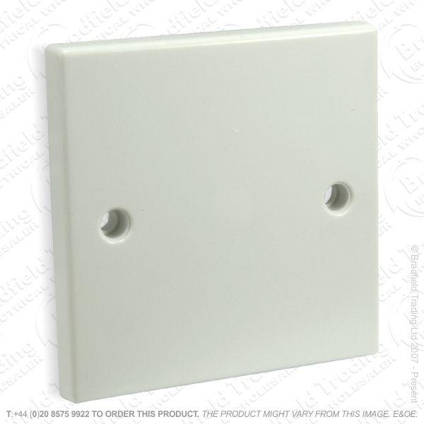 I24) Blanking Plate 1G white B28