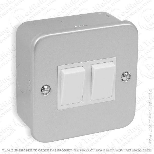 I29) Switch Metal Clad 10A 2G 2w ECO