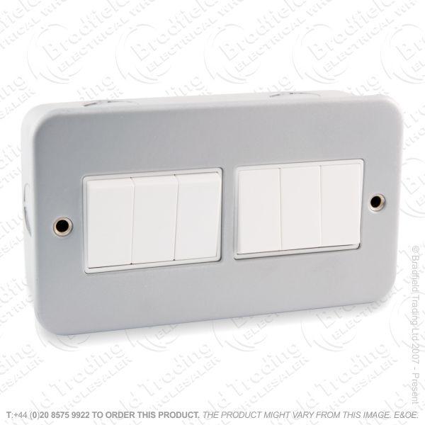 I29) Switch Metal Clad 10A 6G 2w ECO