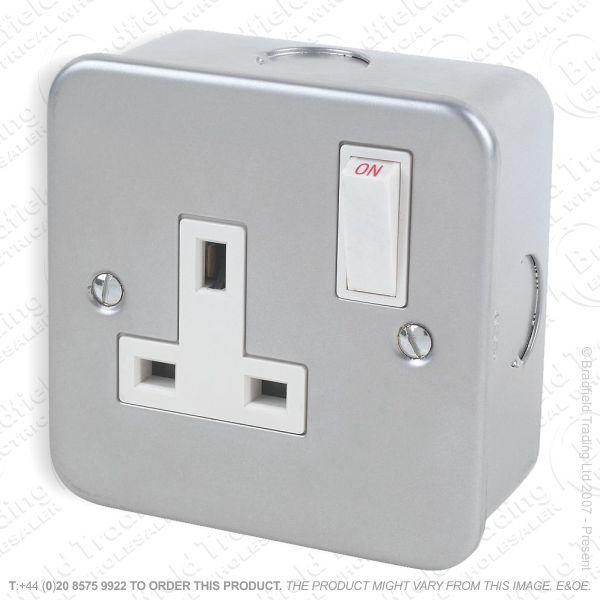 I29) Socket Metal Clad 1G 13A swit MR7000