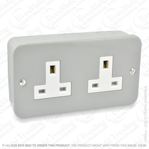 I29) Socket Metal Clad Unsw 2G 13A ECO