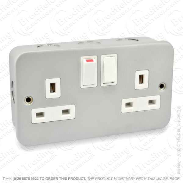 I29) Socket Metal Clad 2G 13A Switch ECO
