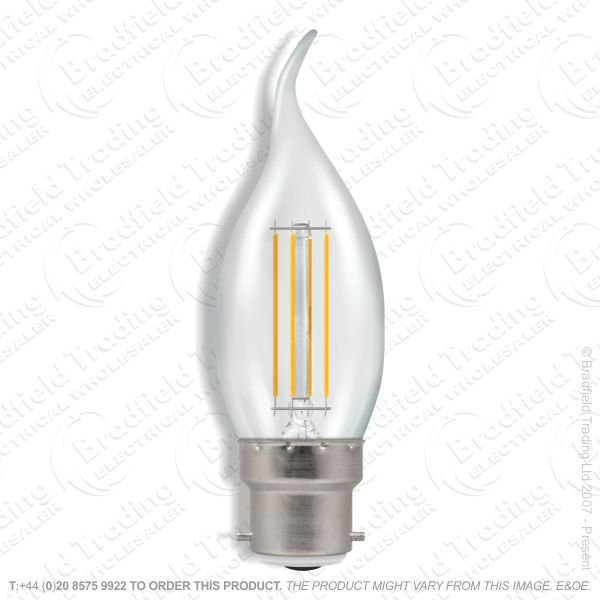 A28) 5W Bent Tip Fila Clear Candle BC Dim CRO