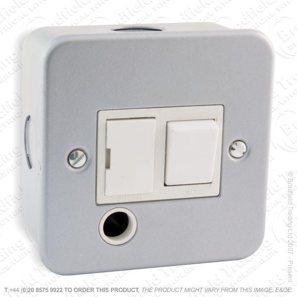 I29) Spur Metal Clad Sw Flex Outlet 13A ECO