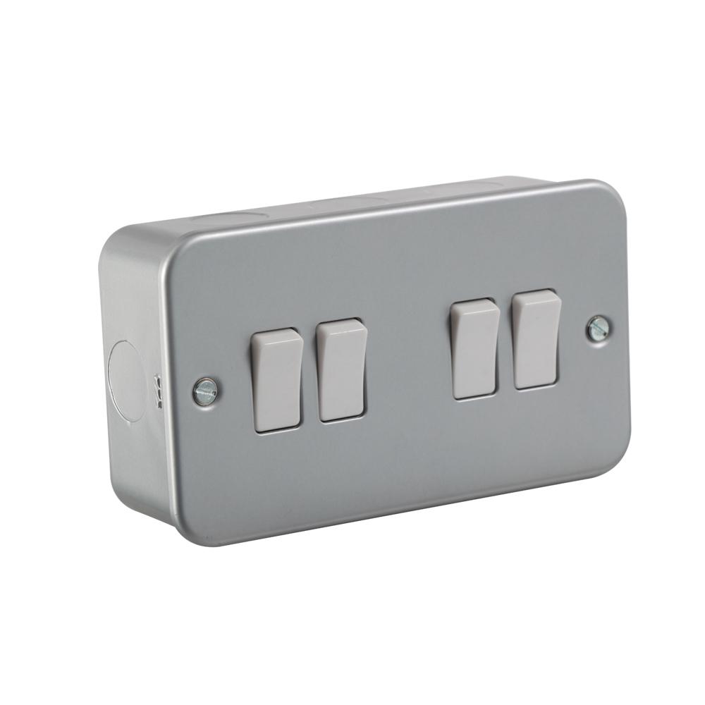 Switch Metal Clad 10A 4G 2w M4100 ECO