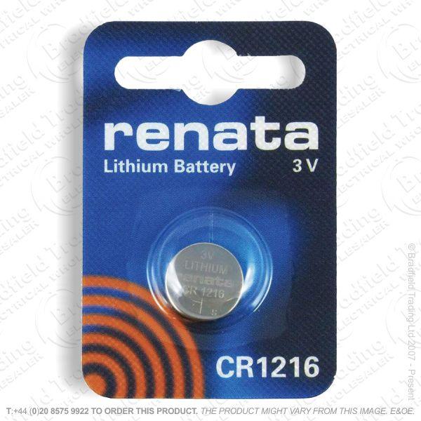 E09) Battery CR1216 3V Lithium RENATA