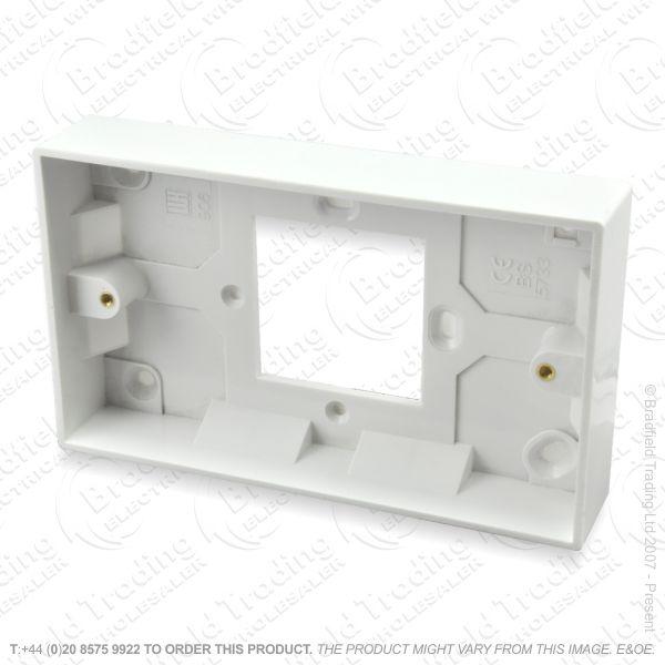H23) Pattress Conversion Box 1G-2G 28mm