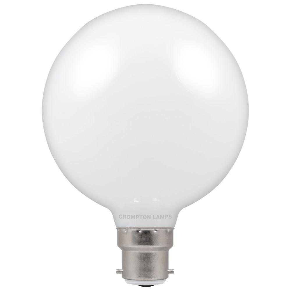 7w LED BC Globe 95 2700k Dimm Opal CROMPTON