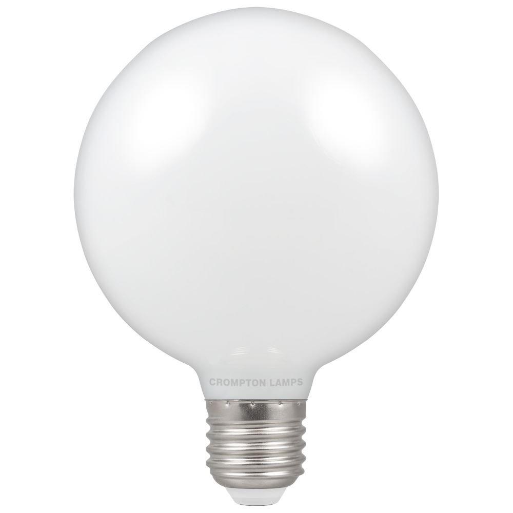 7w LED ES Globe 95 2700k Dimm Opal CROMPTON