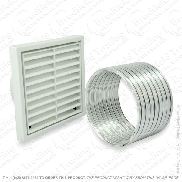I09) Extractor Fan Kit 4  inc Grill   Duct