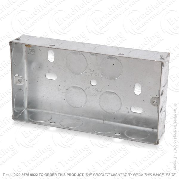 H22) Metal Box 2G 35mm Flush Galvanized