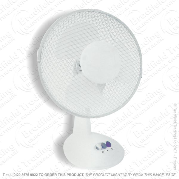 D06) Fan Desk 12  White CED