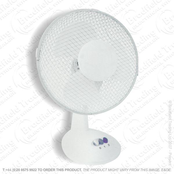 D06) Fan Desk 12  White CED