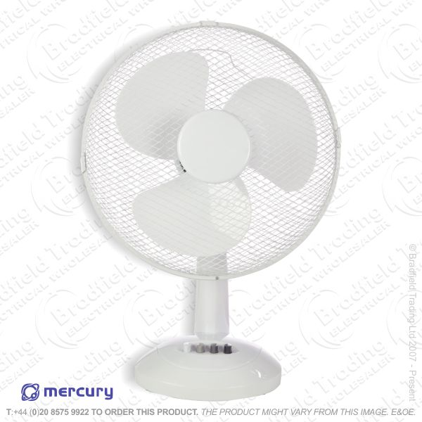 D06) Fan Desk 12  White 3 speed STATUS